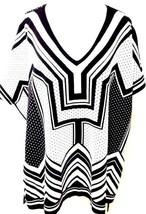 Temperley Ladies Womens Poncho Black White XS Extra Small Alice Huxley - $220.80