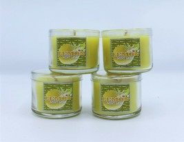Bath & Body Works Mini Candles Lemon Mint Leaf Slatkin 1.3 oz (Set of 4) - $18.89