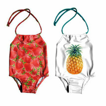 Baby Girls Strawberry Pineapple Bodysuit Swimwear Swimsuit Kid Bikini Ba... - $8.49