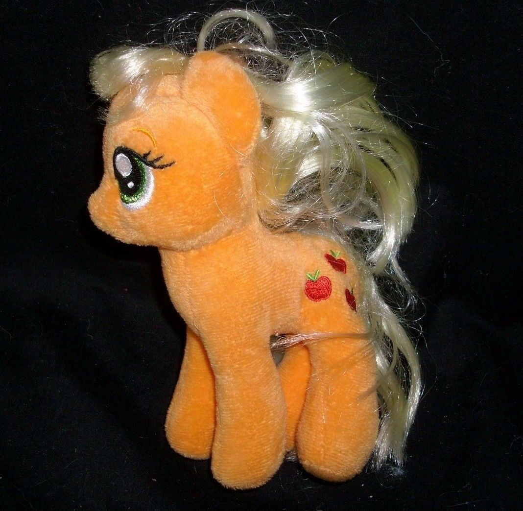 LOT 3 MY LITTLE PONY PONIES RAINBOW DASH APPLEJACK TY STUFFED ANIMAL PLUSH TOY image 2