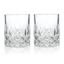 Glass Tumbler, Admiral Prismatic Rays Crystal Insulated Tumbler, Set Of 2 - $25.24