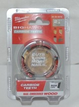 Milwaukee 49569210 Big Hawg Carbide Teeth Nail Embedded Wood image 1