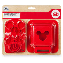 Disney Eats Mickey and Minnie Sandwich Stamp and Crust Cutter Set New wi... - $20.26