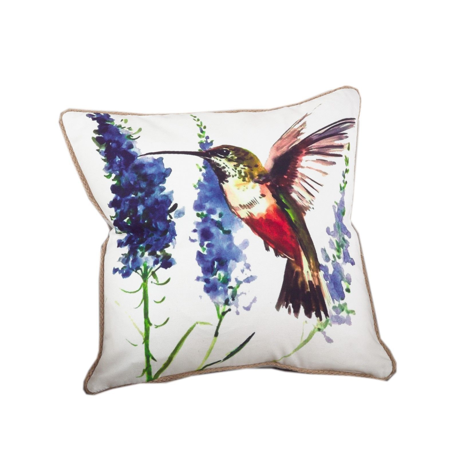 Fennco Styles 18-inch Humming Bird Down Filled Throw Pillow - 100% Cotton - Pillows