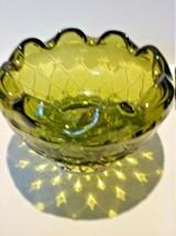 Beautiful Vintage Indiana Green Glass Bowl - $40.76