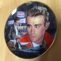 Commemorative JAMES DEAN Plate 3 Movies Rebel Without Cause Giant & East... - $49.50
