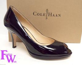 Cole Haan Size 7 Carma Black Patent N. Air Open Toe Heels Pumps Shoes - $84.00