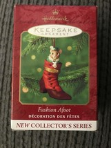 Hallmark Fashion Afoot Christmas Ornament Mouse in Boot Porcelain Hinged... - $3.95