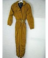 80s Roffe Snowsuit Gold Womens Size 6 SKI Bunny Snow Suit BIB Lined w/ P... - $168.25