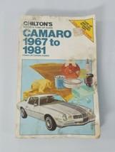 Chilton Repair Manual 1967 to 1981 Chevrolet Camaro All Models Shop Service - $20.57