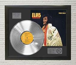 Elvis Presley Pure Gold Framed Platinum LP Display C3 - $151.95