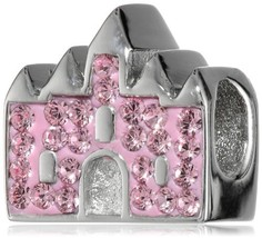 "Disney Stainless Steel Crystal Castle ""Happily Ever After"" Bead Charm - $37.99"