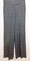 H & M Pants Wool Blend Stretch Washable Gray Plaid size 4 Eur 34 Dress Slacks - $13.83