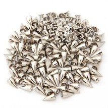 100 X Supports spikes rivets 14mm ball silver bag / shoes gloves - $17.95