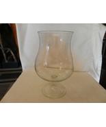 "Vintage Clear Pedestal Glass Flower Vase, Wine Glass Shape, 11"" Tall - $74.25"