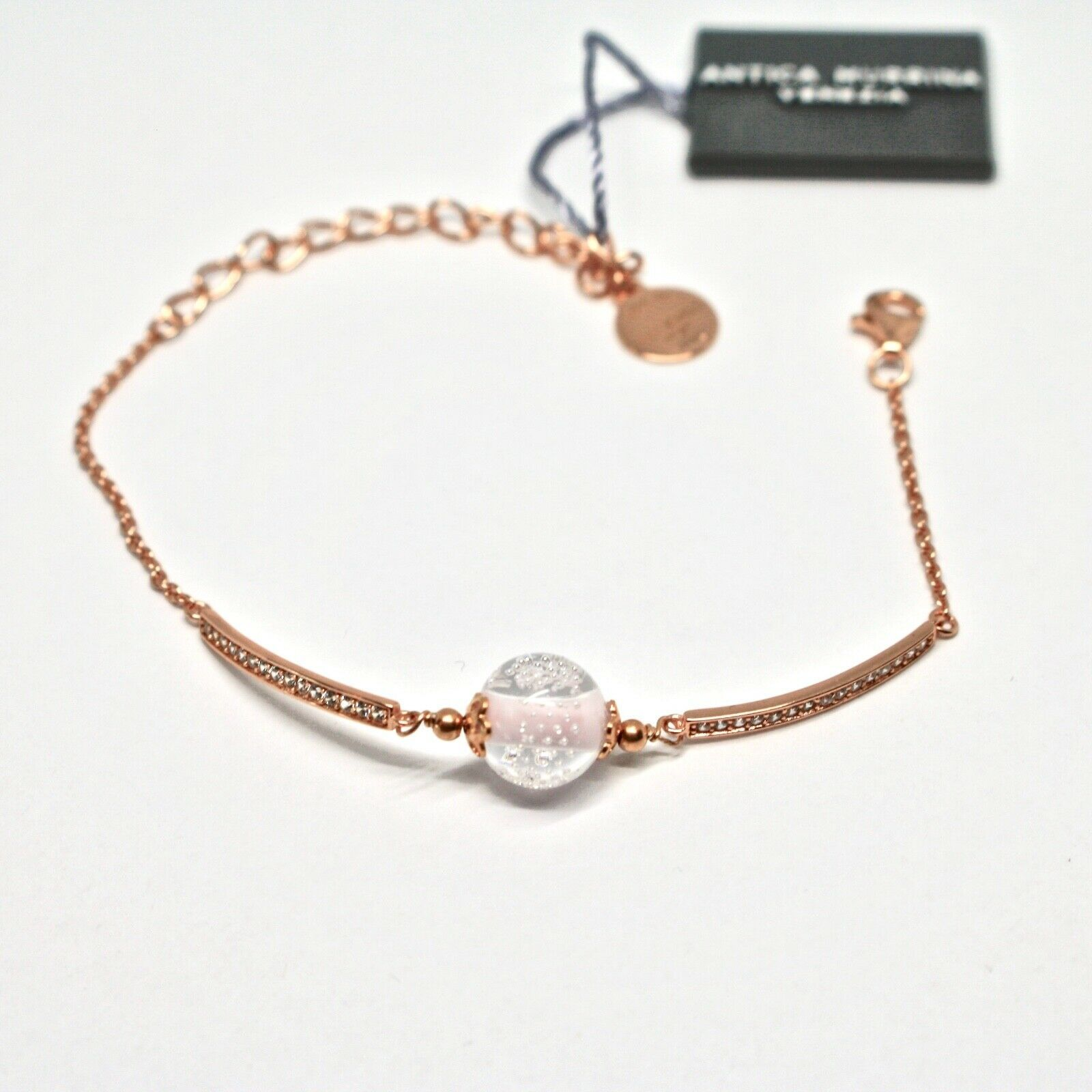 Bracelet Antica Murrina Venezia Silver 925 and Murano Glass AMVJWBT009C03