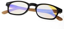 Reduce Eyestrain,Anti Blue Rays,Spring Hinge Bamboo Pattern Computer Rea... - $35.35
