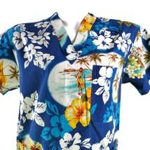 NightinGale Fashions XS Aloha Hula Hibiscus Scrub Top - $15.83