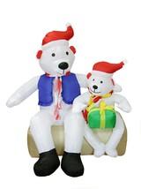 4' Inflatable Polar Bear Family Lighted Christmas Yard Art Decoration - €64,02 EUR