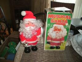 """20#13   Rare Musical Dancing Santa Claus Animated Dancing Christmas 10"""" ... - $25.73"""
