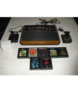 Atari 2600 4 SWITCH with joysticks, adapter, 7 GAMES  COMBAT, ASTEROIDS,... - $148.49