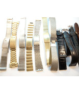 VINTAGE SIGNED ACCUTRON METAL AND LEATHER WATCH BANDS FOR RESTORATION OR... - $689.00