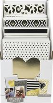 "K&Company Photo Album 4""X6"" In PDQ-Black & White W/Gold Foil - $28.48"