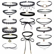 2018 Charm Fashion Style Choker Necklace Black Lace Leather Velvet Strip... - $7.88