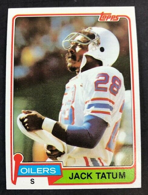 Primary image for 1981 Topps Football #8 Jack Tatum  Oilers & Raiders