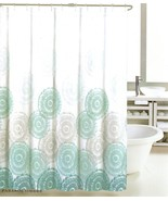 Max Studio Ombre Parasol Gray and Teal on White Shower Curtain - $36.00
