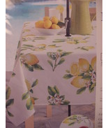 "Benson Mills Lemon Bliss 70"" Round Tablecloth w/ Umbrella Hole and Zipper - $43.00"