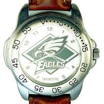 Philadelphia Eagles Sportivi NFL NEW Unworn Mans Vintage 1997 Leather Watch! $69 - $68.16