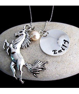 Horse Necklace, Horse Jewelry Personalized Necklace - Christmas Gift set - $15.60