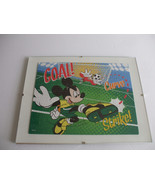 Mickey Mouse And Goofy Playing Soccer Framed  Puzzle Wall Art - $8.90