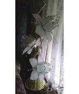 Vintage 3-Light White Tulip Lamp - Very Nice! - $525.00