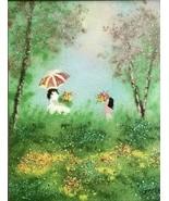 Original VTG Enamel Copper Painting Signed GREENE Renowned Artist KAREN ... - $95.00