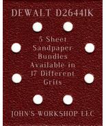 DEWALT D26441K - 1/4 Sheet - 17 Grits - No-Slip - 5 Sandpaper Bulk Bundles - $7.14