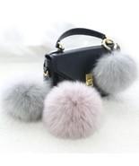Faux Fur PomPom Ball For Hat Bags Keychain Fluffy DIY 10cm Ships N 24h B... - $5.92