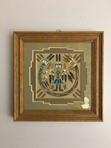 "7"" By 7"" Navajo Sand Painting Native American Signed Yei Begay - $9.89"