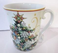 "William Sonoma Christmas Tree Cup Mug 4 5/8"" Twas the Night Before Chris... - $396,25 MXN"