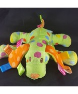 Mary Meyer Taggies Green Puppy Dog Plush Lovey Lime Polka Dot Tags Baby ... - $15.14