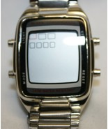Men's Digital Wristwatch With Metal Band - Untested Alarm Chronograph  - $29.69