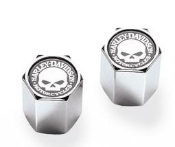 Harley-Davidson® Willie G Skull Chrome-Plated ABS Valve Stem Caps, 41171-03 - $9.85