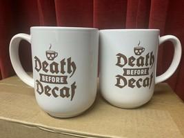(2) Death Before Decaf Coffee Mug | Royal Norfolk | Death Skull Mug - $12.99
