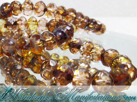 Fire Polished Czech Rondelle Beads  6x4mm - $5.00