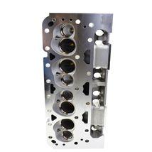 SBC Small Block Chevy GM Straight Plug Aluminum Cylinder Head Set 64cc 2.02/1.60 image 7