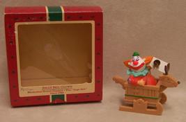 1988 Hallmark Jingle Bell Clown Musical Ornament Plays Jingle Bells - $7.91