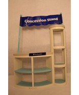 American Girl Concession Stand w/sign Banner White Blue Retired Stand si... - $49.95