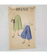 "Misses Culotte Sewing Pattern 7050 Advance Size Waist 26""  - $20.99"