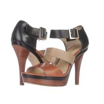 Michael Kors Strap Sandal Strappy Platform Sandals, Black Multi, 9.5 M U... - $118.07